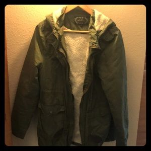 Insulated green jacket
